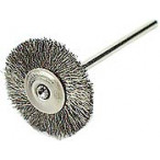 Miniature Brush, silver steel, elastic, mounted