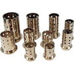 Perforated flasks with flange, stainless steel Inox