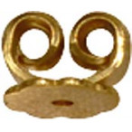 Ear Nut, heavy, Silver 925 Gold plated