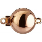 Ball Clasps with Snap, polished, Red Gold 750