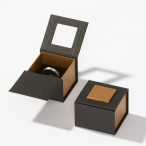 Etuis Design cardboard, Serie Quadro, black-gold